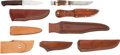 Edged Weapons:Knives, Lot of Assorted Knives and Scabbards.... (Total: 7 Items)