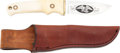 Edged Weapons:Knives, Etched Sesquicentennial Knife by Schrade USA with Scabbard....