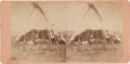 "Photography:Stereo Cards, Stereoview: ""American Horse's Lodge""...."