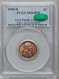 Lincoln Cents: , 1930-D 1C MS64 Red and Brown PCGS. CAC. Ex: Teich FamilyCollection. PCGS Population (60/46). NGC Census: (158/110).Mintag...