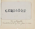 Autographs:Celebrities, Geronimo: An Impeccably Provenanced Autograph of the Notorious Apache Leader. ... (Total: 2 Items)