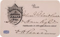 Western Expansion:Cowboy, California & Nevada Stage Company Pass for 1893....