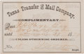 Western Expansion:Cowboy, Early Texas Stagecoach Pass....