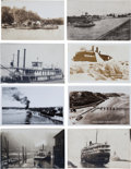 Transportation:Nautical, Real Photo Postcards: Eight Wisonsin & Michigan Ferrys & Steamers,... (Total: 8 Items)