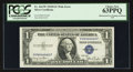 "Error Notes:Obstruction Errors, ""Radar"" Serial Number with an Obstruction Error Fr. 1613w $1 1935DWide Silver Certificate. PCGS Choice New 63PPQ.. ..."