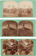 Photography:Stereo Cards, Three Stereoviews: Sioux.... (Total: 3 Items)