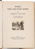 Books:Americana & American History, Emmett Dalton, in collaboration with Jack Jungmeyer. Inscribed Copyof When the Daltons Rode. ...