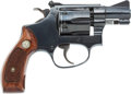 Handguns:Double Action Revolver, Smith and Wesson Model 34-1 Double Action Revolver with Leather Holster....