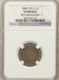 Indian Cents, 1886 1C Type Two--Rev Scratched-- NGC Details. VF. NGC Census:(1/223). PCGS Population (2/212). Numismedia Wsl. Price for...