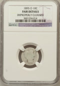 Barber Dimes, 1895-O 10C --Improperly Cleaned--NGC Details. Fair. NGC Census:(6/180). PCGS Population (8/414). Mintage: 440,000. Numisme...
