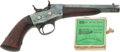 Handguns:Target / Single Shot Pistol, Remington Model 1867 Navy Single Shot Pistol With Box of Original Ammunition. ... (Total: 2 Items)