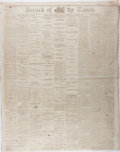 """Miscellaneous:Newspaper, [Franklin Pierce]. Wilkes-Barre Record of the Times """"Death of Ex-President Franklin Pierce"""", October 13, 1869. T..."""
