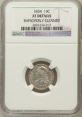 Bust Dimes: , 1834 10C Small 4--Improperly Cleaned--NGC Details. XF. NGC Census: (16/251). PCGS Population (8/165). Mintage: 635,000. Num...