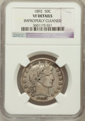 Barber Half Dollars: , 1892 50C --Improperly Cleaned--NGC Details. VF. NGC Census:(0/840). PCGS Population (3/1176). Mintage: 934,000. Numismedia ...