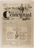 "Miscellaneous:Newspaper, [American Centennial]. ""Ye Greate Centennial"" Special Edition ofthe Philadelphia Centennial Art Journal, 1876. ..."