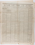 Miscellaneous:Newspaper, [Civil War Newspapers]. Bangor Daily Whig and CourierLincoln Assassination Edition, April 17, 1865. Chipped alo...