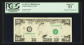 Error Notes:Missing Magnetic Ink, Fr. 2077-F $20 1990 Federal Reserve Note. PCGS About New 53.. ...