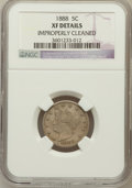 Liberty Nickels: , 1888 5C --Improperly Cleaned--NGC Details. XF. NGC Census: (3/304).PCGS Population (13/405). Mintage: 10,720,483. Numismedi...