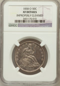 Seated Half Dollars, 1858-O 50C --Improperly Cleaned--NGC Details. XF. NGC Census:(22/277). PCGS Population (59/327). Mintage: 7,294,000. Numism...