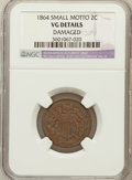 Two Cent Pieces: , 1864 2C Small Motto--Damage--NGC Details VG. NGC Census: (7/341).PCGS Population (24/373). Mintage: 19,847,500. Numismedia...