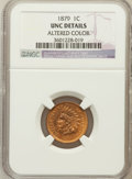 Indian Cents, 1879 1C Brown--Altered Color--NGC Details. UNC. NGC Census:(0/454). PCGS Population (1/144). Mintage: 16,231,200. Numismed...