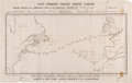 Transportation:Nautical, Nautical Map of 1887 Wild West Trip to England. ...