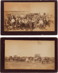 "Photography:Cabinet Photos, Two Guthrie, Oklahoma Land Run Albumen Photographs: ""FirstDecoration Day in Guthrie"" and ""Waiting for Mail.""... (Total: 2Items)"