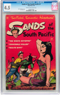 Golden Age (1938-1955):Adventure, Sands of the South Pacific #1 (Toby Publishing, 1953) CGC VG+ 4.5 Cream to off-white pages....