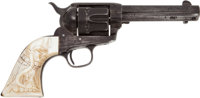 Colt Single Action Revolver with Mexican Eagle Pearl Grips