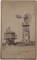 Photography:CDVs, CDV: Windmill and Water Tank....