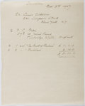 "Autographs:Artists, F. C. Papé, Illustrator. Customs Declaration Signed ""F. C.Papé"". Includes a receipt for three books which were in thep..."