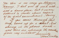 "Autographs:Authors, Mari Sandoz, American Novelist. Autograph Letter Signed ""MariSandoz"". Written on the recto and verso of her personal ca..."