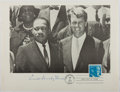 "Autographs:Celebrities, Eunice Kennedy Shriver. First Day Cover Signed ""Eunice Kennedy Shriver"". Signed below an illustration of Bobby Kennedy a..."