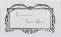 """Autographs:Authors, Anne Tyler. Note Card Inscribed """"Best wishes - Anne Tyler"""".Fine...."""