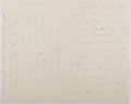 "Autographs:Authors, John Townsend Trowbridge, American Author. Autograph Letter Signed""J. T. Trowbridge"". Three pages, on his embossed lett..."