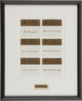 Political:Small Paper (1896-present), John F. Kennedy: Texas Welcome Dinner Place Cards. ...