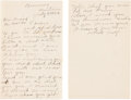 Western Expansion:Indian Artifacts, Chief Two Guns White Calf: 1924 Letter. ...