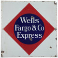 Advertising:Signs, Wells, Fargo & Co. Porcelain Enamel Sign....