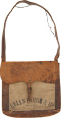 Transportation:Railroad, Wells, Fargo & Company: Messenger Pouch and Mail Bag. ...
