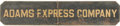 "Transportation:Railroad, Adams Express Company Wooden ""Sand"" Sign. ..."