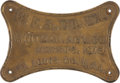 Advertising:Signs, Wells, Fargo & Co. Cast Iron Wall Plaque....