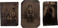 Photography:Tintypes, Tintype Photos: Three American Indians.... (Total: 3 Items)