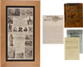 Western Expansion:Cowboy, Buffalo Bill Wild West: Broadside Promotional & Book....(Total: 5 Items)
