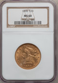 Liberty Eagles: , 1890 $10 MS60 NGC. NGC Census: (63/195). PCGS Population (28/173). Mintage: 57,900. Numismedia Wsl. Price for problem free ...