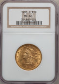 Liberty Eagles: , 1903-O $10 MS62 NGC. NGC Census: (293/77). PCGS Population(323/118). Mintage: 112,771. Numismedia Wsl. Price for problem f...