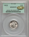 Mercury Dimes, 1923 10C MS65 Full Bands PCGS. Gold CAC. PCGS Population (305/230).NGC Census: (185/127). Mintage: 50,130,000. Numismedia ...