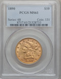 Liberty Eagles: , 1890 $10 MS61 PCGS. PCGS Population (68/105). NGC Census: (133/62).Mintage: 57,900. Numismedia Wsl. Price for problem free...
