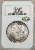 1885-O $1 MS65 NGC. Gold CAC. NGC Census: (25939/4844). PCGS Population (17363/2401). Mintage: 9,185,000. Numismedia Wsl...