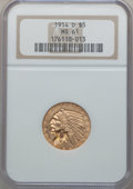 Indian Half Eagles: , 1914-D $5 MS61 NGC. NGC Census: (618/1023). PCGS Population(246/1005). Mintage: 247,000. Numismedia Wsl. Price for problem...