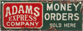 Transportation:Railroad, Adams Express Company Porcelain Enamel Sign....
